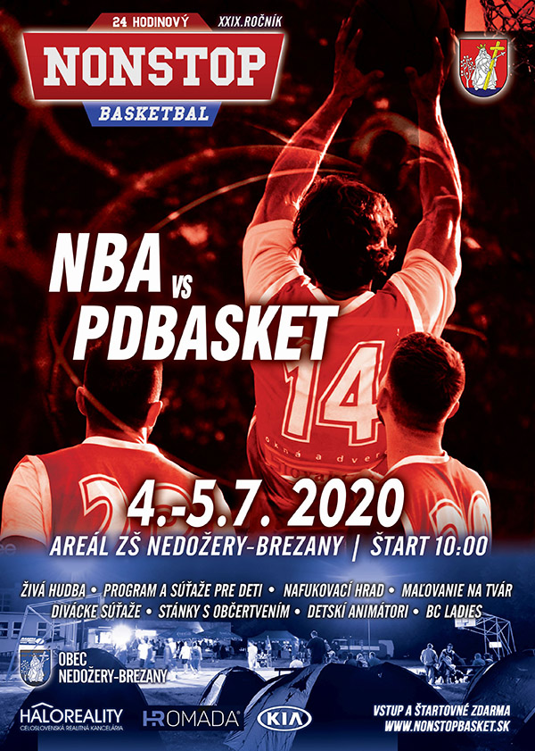 plagát Nonstop basketbal 2020